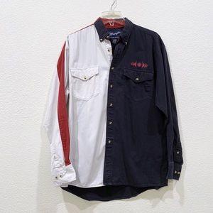vintage WRANGLER cowboy western shirt medium